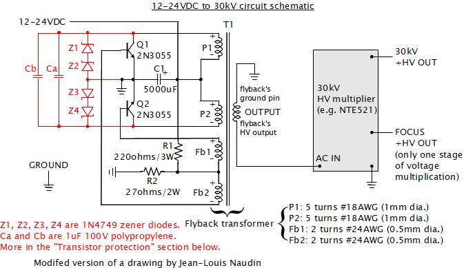 30kv dc power supply  homemade  diy  using flyback and