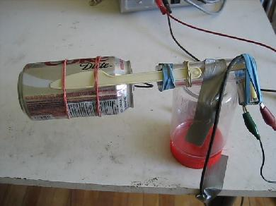 Homemade/DIY Van de Graaff generator with a Coke soda can for the dome and