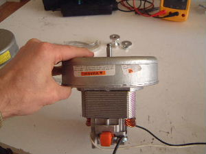 Side View Of Bare Vacuum Cleaner Motor