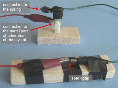 Closeup Of The Wires Connected To Piezoelectric Igniter And Spark