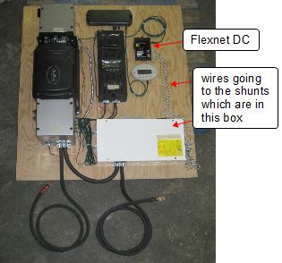 amp hour meter battery status monitor outback flexnet dc in use on a solar system board