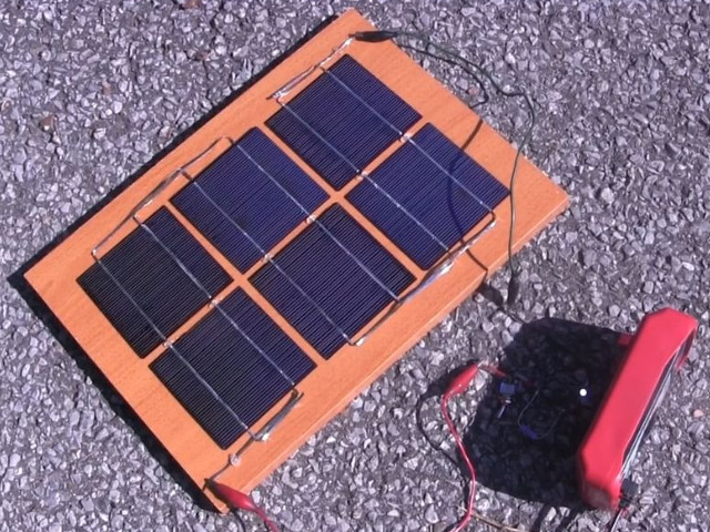DIY/homemade solar panel - simple one