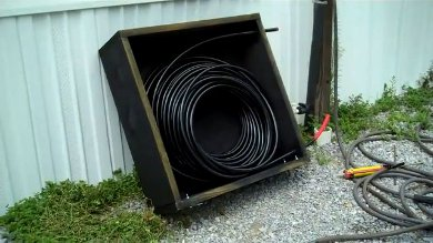 Diy solar hot water using pex coil david norman for Pex fittings for hot water heater
