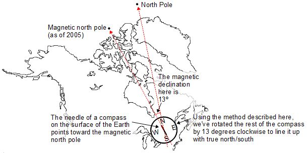 How To Find True South For Aligning Solar Collectors - Magnetic declination map us