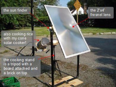 Fresnel Lens Solar Cooker Steve S