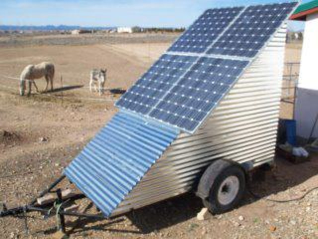 Mobile off grid solar power system