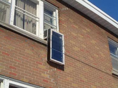 Window solar air heater outdoor to indoor airflow - Solar air heater portable interior exterior ...