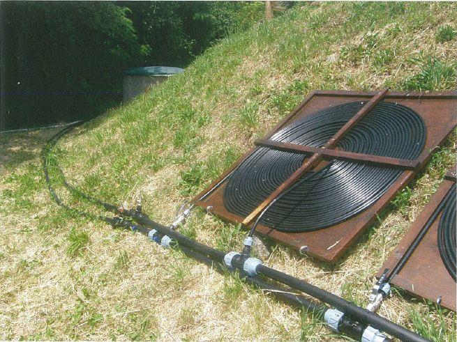 Diy solar pool heating in tuscany pipework connection between pump filter chamber and solar pool heater panels solutioingenieria Image collections