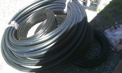 The pipe purchased for the solar pool heater.