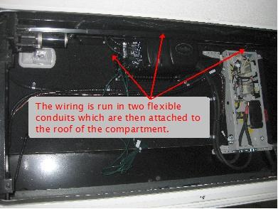 off grid solar power system on an rv recreational vehicle or wiring between the e panel and the outback inverter
