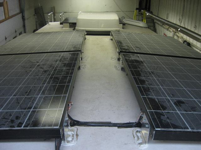 Off grid solar power system on an RV (Recreational Vehicle) or