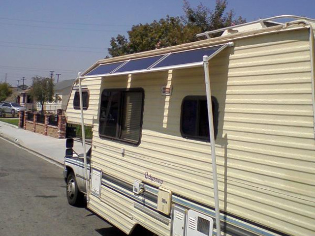 Solar Power On An Rv Recreational Vehicle Or Motorhome