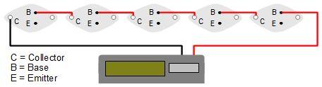 solar panel of transistor solar cells powering a calculator. Black Bedroom Furniture Sets. Home Design Ideas