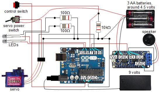 ArduinoAdafruit Audio FX    Sound Board    controlled skull