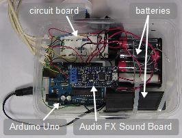 Arduino/Adafruit Audio FX Sound Board controlled skull
