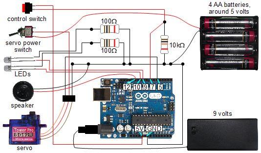 arduino speaker wiring diagram arduino controlled skull - scareduino osepp arduino buzzer wiring diagram #5
