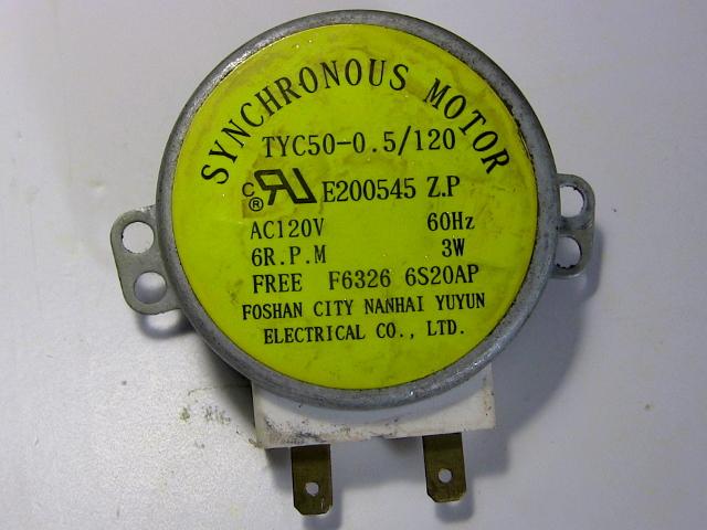 Mikrowellenherdmotor - zurück.