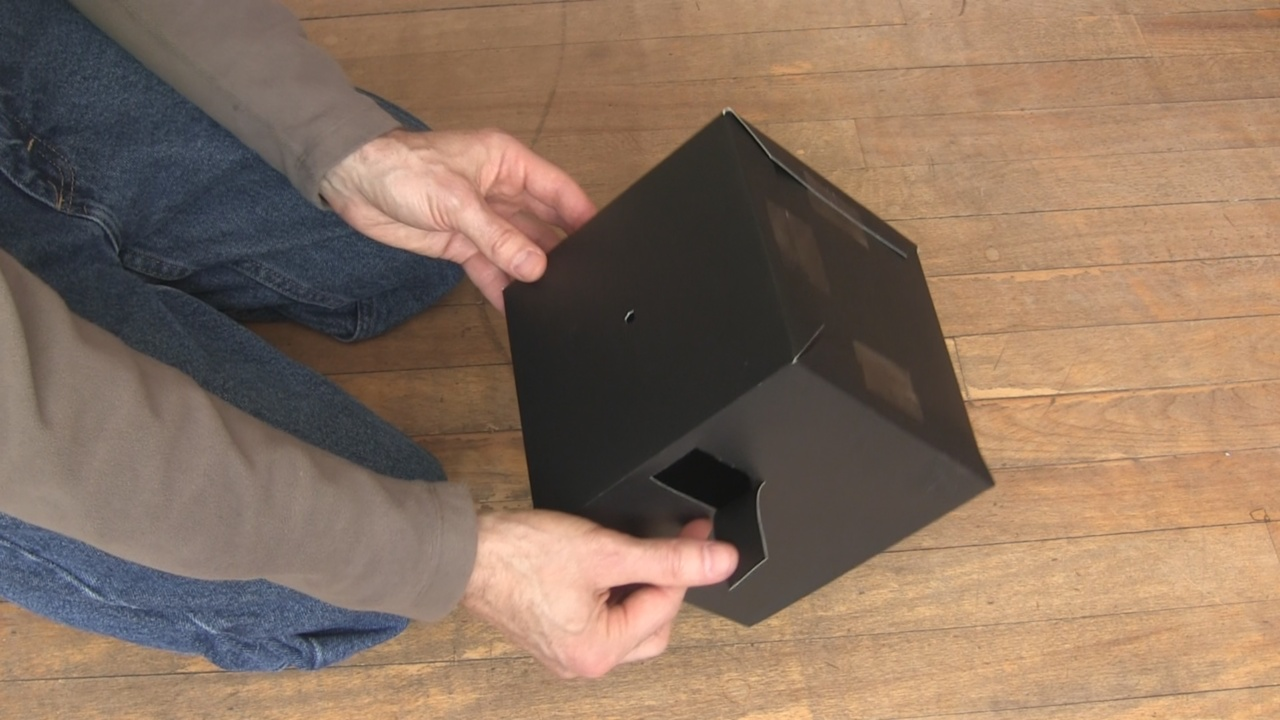 How To Make A Pinhole Camera Using Poster Board Diagram The Finished Made From