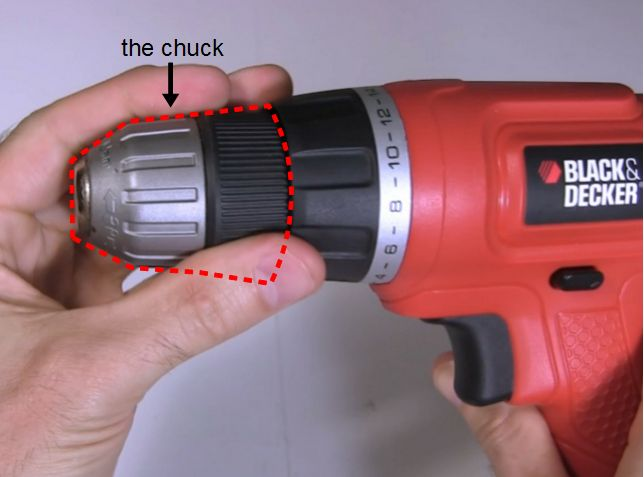 Remove chuck from drill and drill motors