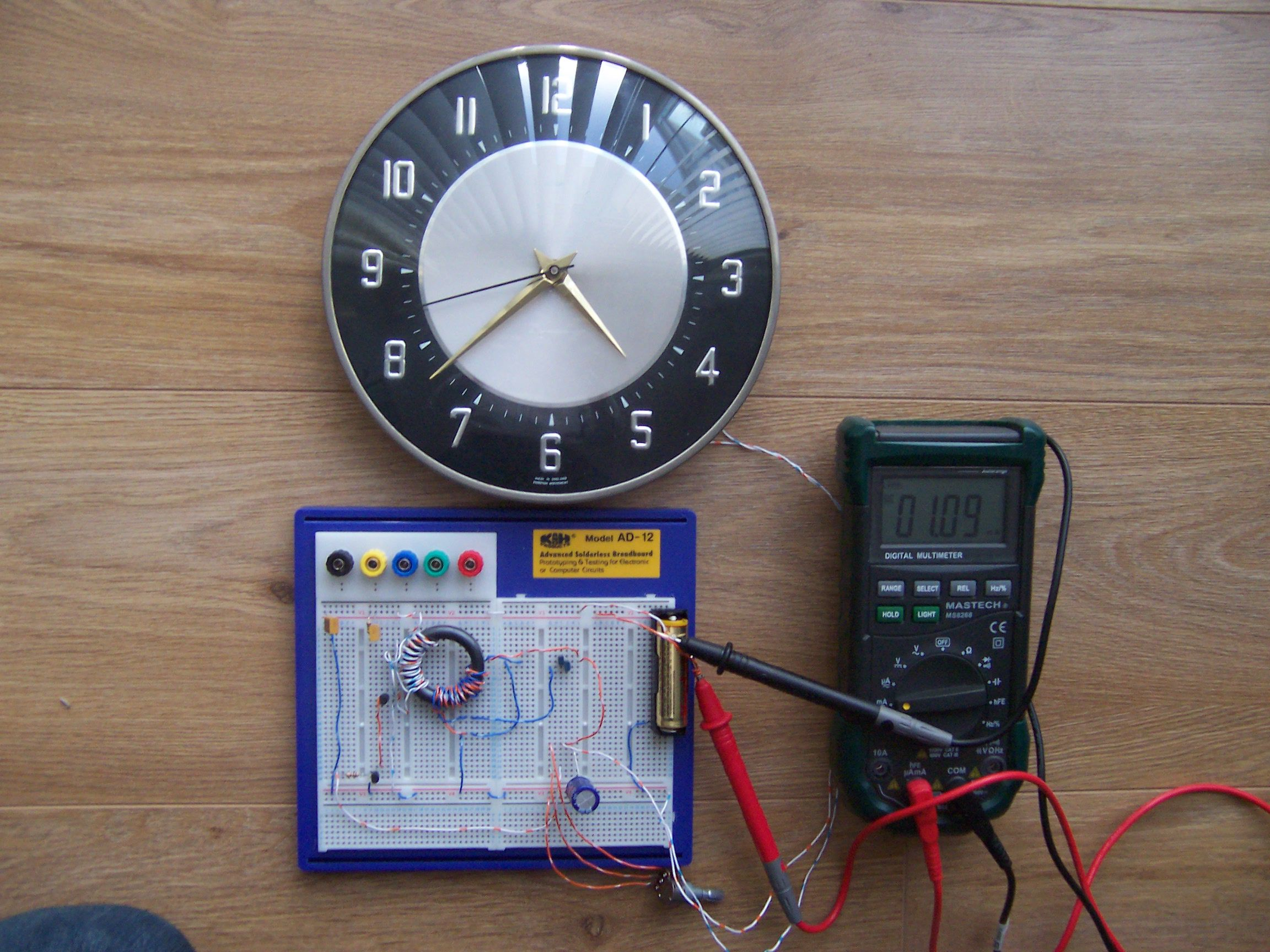 Joule Thief Circuit Powering A Clock First I Connected 1 Supercap And The Led Resistor Into Click Here For