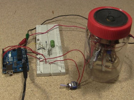 DIY amplifier used to amplifier output from an Arduino speech synthesizer.